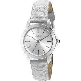 """Invicta Women's 15147 """"Angel"""" Stainless Steel and White Leather Watch"""