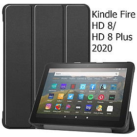 Bao Da Cover Cho Máy Tính Bảng Amazon All-new Kindle Fire HD 8 2020 Hỗ Trợ Smart Cover