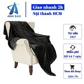 Mền lông cừu Thái Lan màu đen cao cấp A 1m8 x 2m - mềm mại, sang trọng, mang cảm giác ấm áp cho gia đình