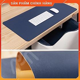 Bàn Di Chuột - Miếng Lót Chuột Cỡ Lớn Doron-HDC01 Size 40x80, 45x90 cm - Kiêm Deskpad Thảm Da, Trải Bàn Làm Việc Chống Nước Dùng Được Hai Mặt - Hàng Nhập Khẩu