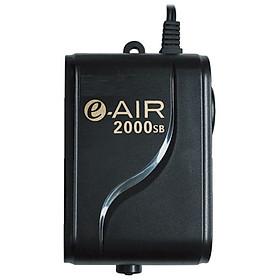Máy sủi khí bể cá 1 vòi siêu êm, siêu tiết kiệm điện GEX e-air 2000SB