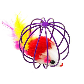 Rat Cage Toys Cat Playing Ball Lovely Round Artificial Feather Kitten Dogs