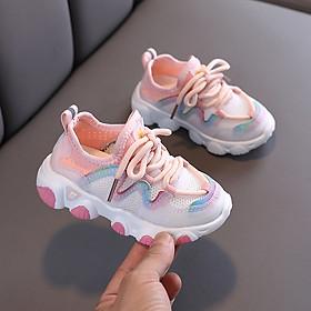 Giày thể thao bé gái 1 - 5 tuổi kiểu buộc dây năng động và cá tính đế mềm nhẹ phối màu độc đáo GE63