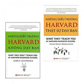 Combo 2 Cuốn Sách Kinh Tế Đặc Sắc: Những Điều Trường Harvard Thật Sự Dạy Bạn + Những Điều Trường Harvard Không Dạy Bạn (Tặng kèm bookmark Phương Đông Books)