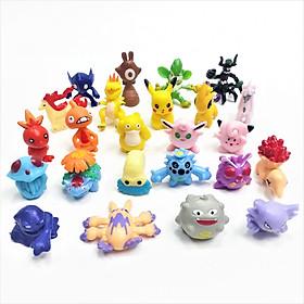 Bộ sưu tập mô hình trang trí Pokemon 24 chi tiết