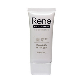Kem Chống Nắng Dưỡng Da Rene Purity & White CC Corrector SPF 50 PA +++ (50ml)