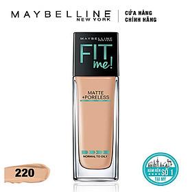 Kem Nền Mịn Lì Tự Nhiên Maybelline Fit Me - Màu 220 Natural Beige 30ml-1