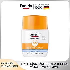 Kem Chống Nắng Cho Da Hỗn Hợp Và Da Thường Eucerin Sun Fluid Mattifying Face SPF 50+ 50ml