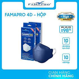[HỘP - FAMAPRO 4D] - Khẩu trang y tế kháng khuẩn cao cấp Famapro 4D tiêu chuẩn KF94 (10 cái/ hộp)