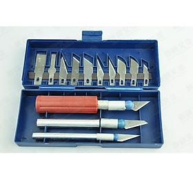 Bộ dụng cụ dao khắc cầm tay đa năng 13 chi tiết ( Tặng kèm miếng thép sửa chữa 11in1 )