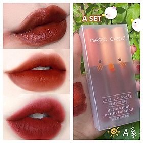 Set 3 Son Kem Lì MAGIC CASA Love Lip Glaze