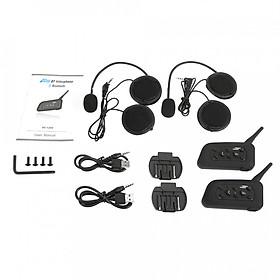 2 Bộ Tai Nghe Bluetooth Cho Xe Máy V6-1200