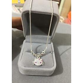 Vòng cổ Bạc Mèo Kitty Cực Xinh, chất liệu bạc ta cao cấp. Bạc BSJ - VCB001