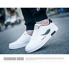 Giày Nam Thể Thao Sneaker Vải Dệt Cực Chất Đế Cao Su Nguyên Khối Siêu Êm Họa Tiết Lông Vũ CTS-GN026-5