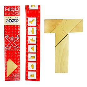 Bộ trò chơi xếp gỗ T puzzle