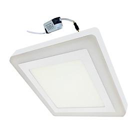 Đèn Led ốp trần 16w ( 12w +4w) vuông nổi 2 màu 3 chế độ sáng trắng+viền sáng màu Posson LP-So12+4B-G