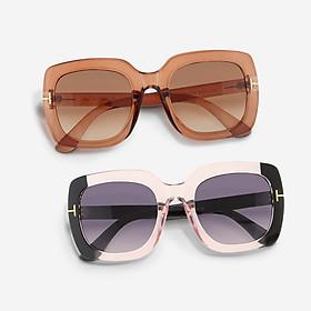 Mắt kính mát nữ vuông gọng kính nhựa UV400 trang trí viền Jaliver Young SP – 1040W