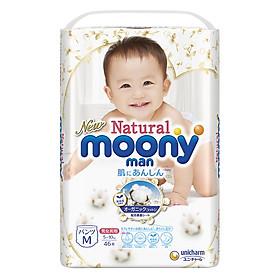 Tã Quần Moony Natural Bông Organic M46 (46 Miếng)