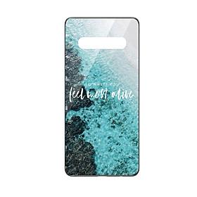 Ốp lưng KÍNH CƯỜNG LỰC VIỀN ĐEN cho Samsung Galaxy S10 FEEL MOST ALIVE - Hàng chính hãng