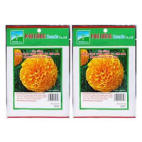 Bộ 2 Gói Hạt Giống Hoa Vạn Thọ Lùn F1 PN 101 Phú Nông (15 Hạt / Gói)