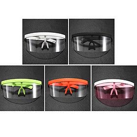 5 Pieces Unisex Fashion Shield Sunglasses Goggles Anti-UV HD Lens Glasses