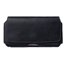 Túi da bò đeo hông thắt lưng loại ngang cho điện thoại nhiều size 5 inch, 5.2 inch, 5.5 inch, 6 inch, 6.3 inch, 6.5 inch