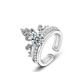 Nhẫn nữ hình mảnh ghép vương miệng thời trang mới N51 S925