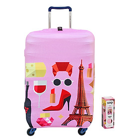 Túi Bọc Vali Hình Paris Loqi (58 x 65 cm)