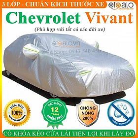 Bạt Phủ Ô Tô Chevrolet Vivant Cao Cấp 3 Lớp Chống Nắng Nóng Chống Nước Chống xước   OTOALO