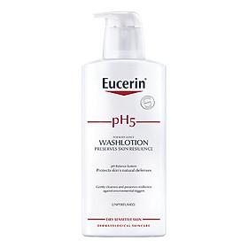 Sữa Tắm Không Mùi Cho Da Cơ Thể Nhạy Cảm Eucerin Sensitive Skin Ph5 Washlotion (Perfume-Free) (400ml)