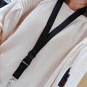 All Black Keychain - Dây đeo điện thoại móc chìa khóa
