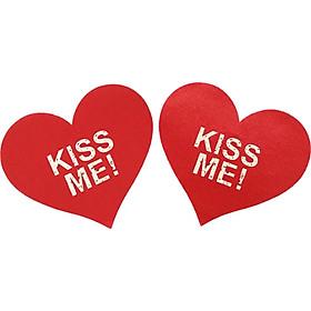 Hai miếng dán nhũ hoa trái tim gợi cảm hình trái tim