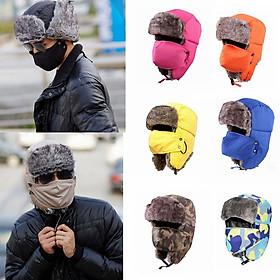 Mũ lông siêu phẩm mùa đông cho nam (mầu giao ngẫu nhiên)
