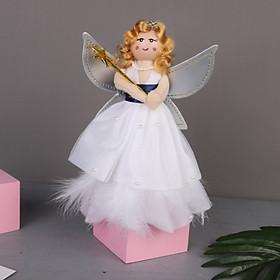 Christmas Tree Topper Angel for Christmas Party Home Decor DIY Xmas Craft Kid Gift Mini Star Christmas Tree Pure Angel Topper