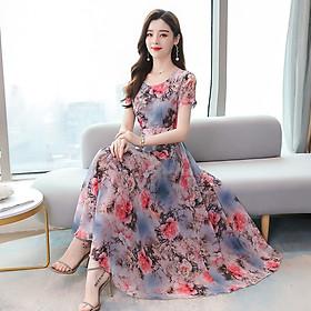 Áo thun không tay thời trang mùa hè phiên bản Hàn Quốc của áo phông trắng cỡ lớn họa tiết hoa