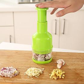 Dụng cụ băm, xay, thái lát tỏi ớt, rau củ quả bằng tay nhà bếp, nhanh chóng, an toàn, tiết kiệm được thời gian8x22 cm, giao màu ngẫu nhiên+ Tặng kèm hình dán