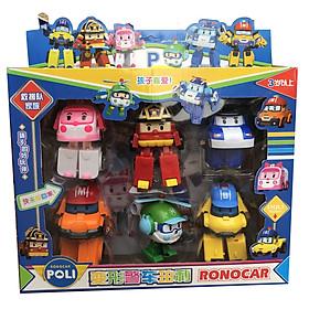 Đồ chơi lắp ráp biến hình Đội bay siêu đẳng Robocar Poli và những người bạn - Bộ 6 con