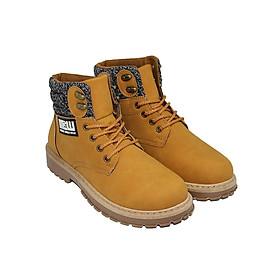 Giày Tăng Chiều Cao Cổ Vải 3505NA - Vàng Nâu