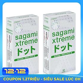 Combo 2 hộp bao cao su Sagami Xtreme White 10 pcs