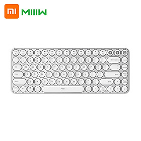 MIIIW Mini BT Dual Mode Keyboard 85 Keys 2.4GHz Multi Device Keyboard Wireless Keyboard Compatible with Mac iPad iPhone