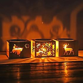 Đèn xông hương khuếch tán tinh dầu gỗ tre, đế nến Neo Sky