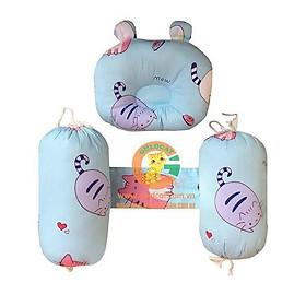 Gối chặn sơ sinh bông cotton mềm mịn giúp bé không giật mình khi ngủ, chặn bông cỡ đại