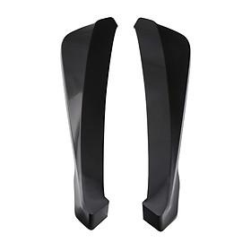 Rear Bumper Lip Splitter Universal Car Side Fender Fins Body Lip Spoiler Chin Skirt Protector, (Carbon Fiber Color)