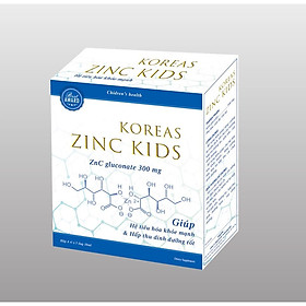 Siro Uống KOREAS ZINC KIDS- Hỗ Trợ Bổ Sung Kẽm- Tăng Cường Sức Đề Kháng ( Hộp 20 ống)