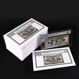 Túi 50 miếng phơi nilon thích hợp để bảo quản những tờ tem, tiền có kích thước lớn