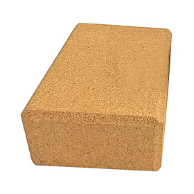 Yoga Block Cork Wood Yoga Brick Soft High Density Yoga Block to Support Poses