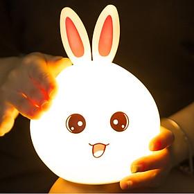 Đèn ngủ , đèn trang trí cao cấp thú cưng Thỏ Happy có bảng điều khiển