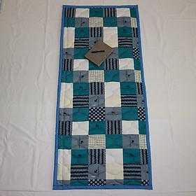 Nệm Ngủ Trưa Văn Phòng HOÀNG THIÊN HÀ - Mẫu ô vuông caro trắng xanh - 100% vải coton thoáng mát, mềm mại, thấm hút mồ hôi. Giặt được bằng máy. Dể gấp gọn - Có túi đựng riêng.
