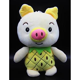 Gấu Bông/ Thú Nhồi Bông Heo Trái Cây Nhí 18 Cm (Tặng kèm móc khóa da bò thật màu ngẫu nhiên) BA00183