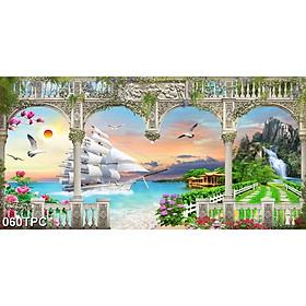 Tranh Dán Tường 3D Phào Chỉ - Có Sẵn Keo - TPC060